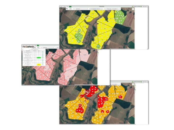 Image from the agritask platform showing Geo-referenced soil nutrient data