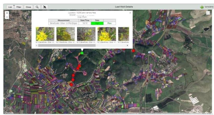 Image from the agritask platform showing Monitoring biodiversity