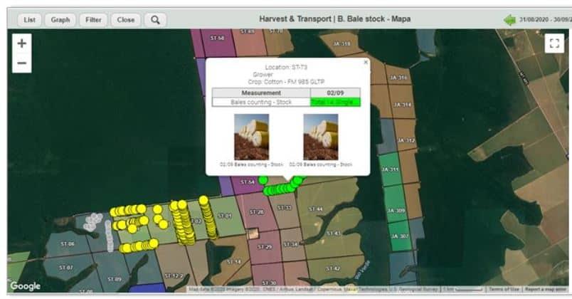 Image from the agritask platform showing Optimizing harvest logistics